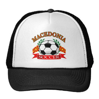 Macedonia soccer ball designs mesh hats