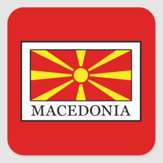 Macedonia Square Sticker