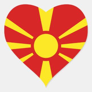 macedonia heart sticker