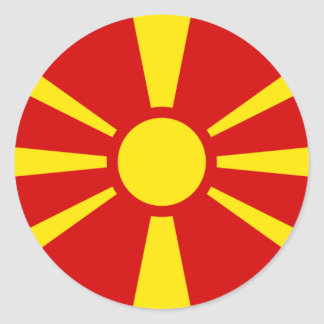 macedonia round sticker