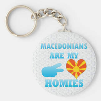 Macedonians are my Homies Basic Round Button Key Ring