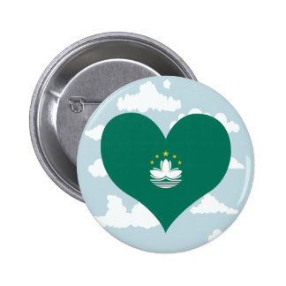 Macese Flag on a cloudy background 2 Inch Round Button