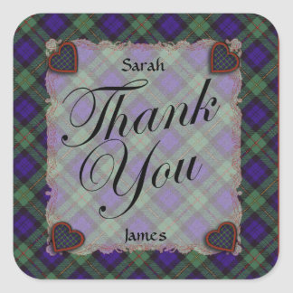Macewen Scottish clan tartan - Plaid Square Sticker