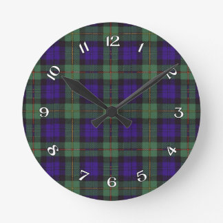 MacEwen Scottish Tartan Round Clock