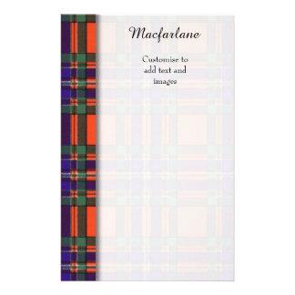 Macfarlane clan Plaid Scottish tartan 14 Cm X 21.5 Cm Flyer