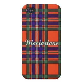 Macfarlane clan Plaid Scottish tartan iPhone 4 Cover