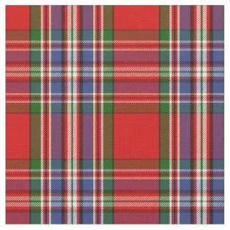 MacFarlane Red Tartan Print Fabric