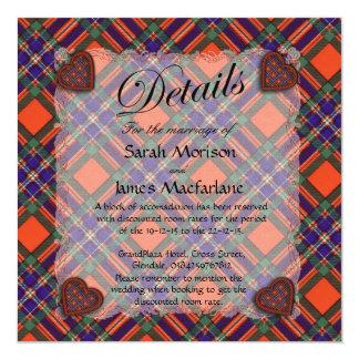 Macfarlane Scottish clan tartan - Plaid 13 Cm X 13 Cm Square Invitation Card