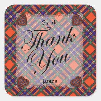 Macfarlane Scottish clan tartan - Plaid Stickers