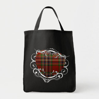 MacFarlane Tartan Heart Grocery Tote Bag