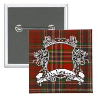 MacFarlane Tartan Shield 15 Cm Square Badge