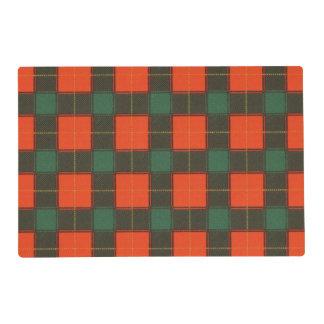 Macfie clan Plaid Scottish tartan Laminated Placemat