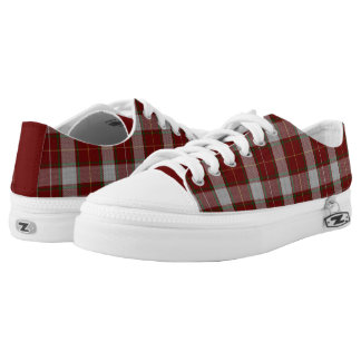 MacFie Tartan Plaid Pattern ZipZ Tennis Shoes Printed Shoes