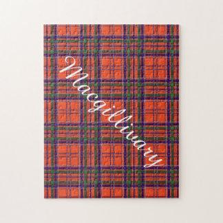 Macgillivary clan Plaid Scottish tartan Jigsaw Puzzle
