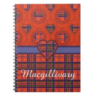 Macgillivary clan Plaid Scottish tartan Notebook