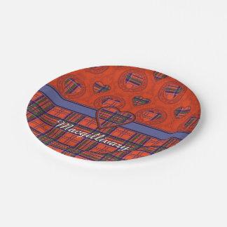 Macgillivary clan Plaid Scottish tartan Paper Plate