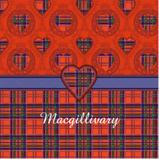 Macgillivary clan Plaid Scottish tartan Acrylic Cut Out