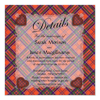 "Macgillivary Scottish clan tartan - Plaid 5.25"" Square Invitation Card"