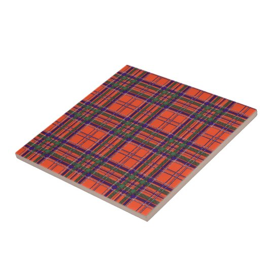 MacGillivary Scottish Tartan Small Square Tile