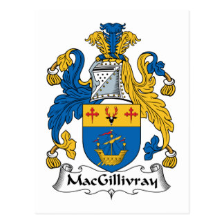 MacGillivray Family Crest Postcard