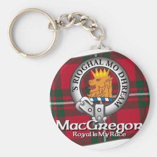 MacGregor Clan Basic Round Button Key Ring