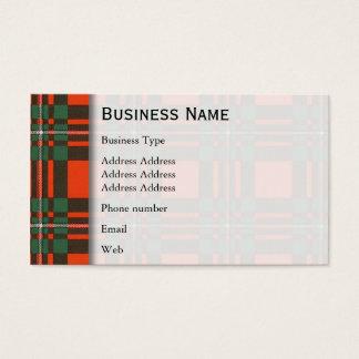 Macgregor clan Plaid Scottish tartan Business Card