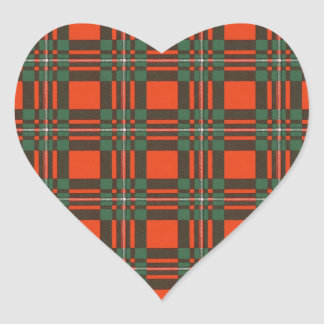 Macgregor clan Plaid Scottish tartan Heart Sticker