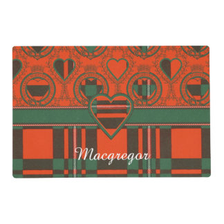 Macgregor clan Plaid Scottish tartan Laminated Place Mat