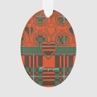 Macgregor clan Plaid Scottish tartan Ornament