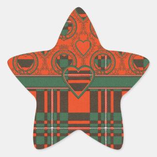 Macgregor clan Plaid Scottish tartan Star Sticker