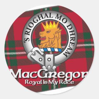MacGregor Clan Round Sticker