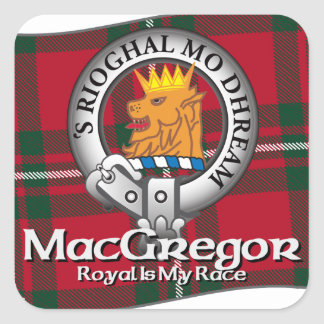MacGregor Clan Square Stickers