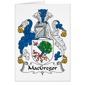 MacGregor Family Crest Greeting Card