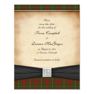 MacGregor of Cardney Wedding Save the Date 11 Cm X 14 Cm Invitation Card