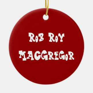 MacGregor Ornament Edit name