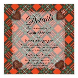 Macgregor Scottish clan tartan - Plaid 13 Cm X 13 Cm Square Invitation Card