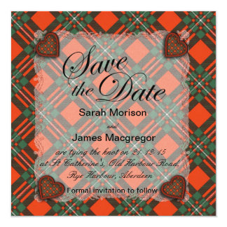 Macgregor Scottish clan tartan - Plaid Card