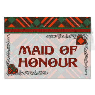 MacGregor Scottish Tartan Greeting Card