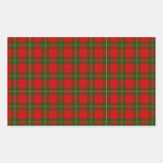 MacGregor Tartan Rectangular Sticker