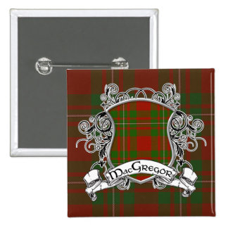 MacGregor Tartan Shield 15 Cm Square Badge