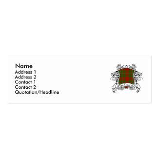MacGregor Tartan Shield Business Card Templates