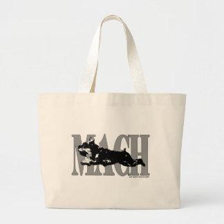 MACH Schnauzer Large Tote Bag