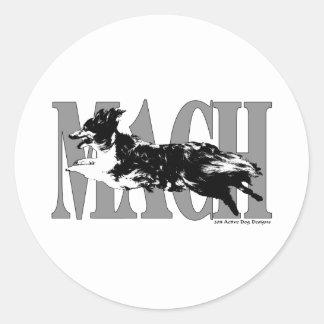 MACH Sheltie Classic Round Sticker