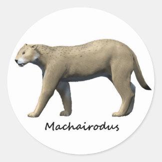 Machairodus Round Sticker