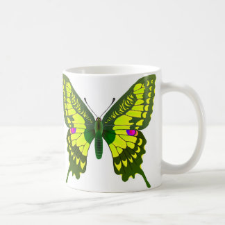 Machaon butterfly basic white mug