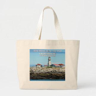 Machias Seal Island Lighthouse Jumbo Tote Bag