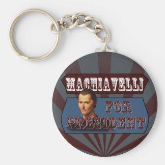 Machiavelli for President Key Chain