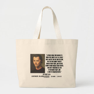 Machiavelli Prince Imitate Fox and the Lion Quote Bag