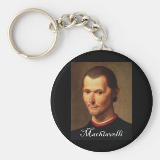 Machiavelli with Blackadder font Key Chains