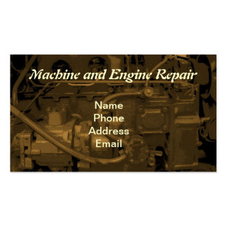 Machine and Engine Repair Service Business Cards
